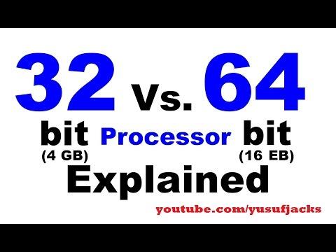 32 bit vs 64 bit processors explain [Hindi/Urdu]