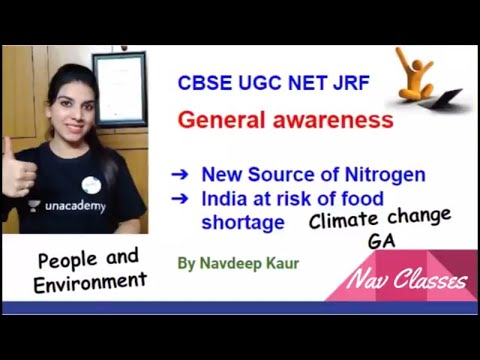 General awareness CBSE UGC NET | Climate Change | People and environment