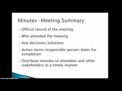 How To Conduct A Successful Meeting