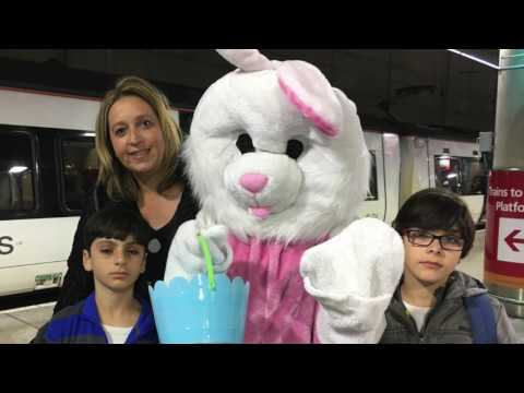 Easter Bunny visits Stansted Express