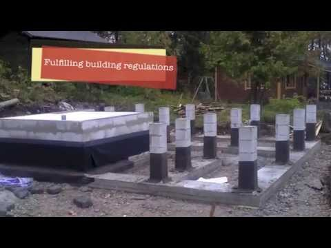 Building a log cabin in FInland: Sauna foundations and drainage (Part 3)