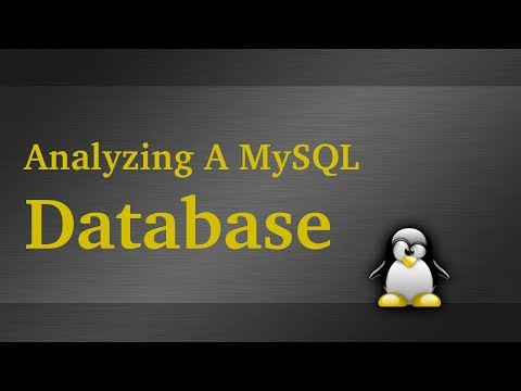 Analyze A MySQL Database