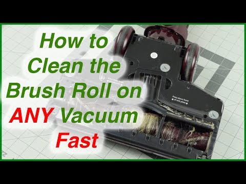 How To Clean the Brush Roll on ANY Vacuum FAST - Remove Hair etc.