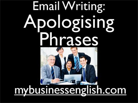Email Writing: Apologising Phrases