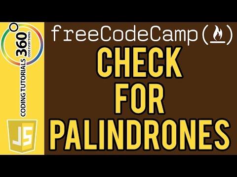 Bonfire: Check for Palindromes JavaScript FreeCodeCamp.com