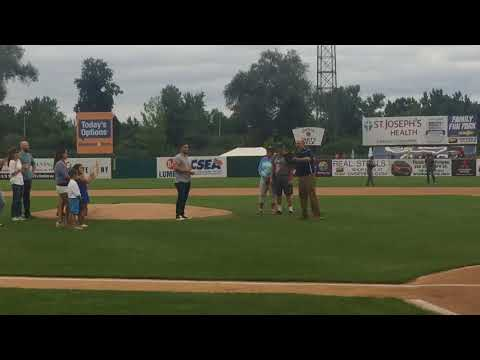 Thai cave rescuer, CNY native throws out first pitch at Syracuse Chiefs game