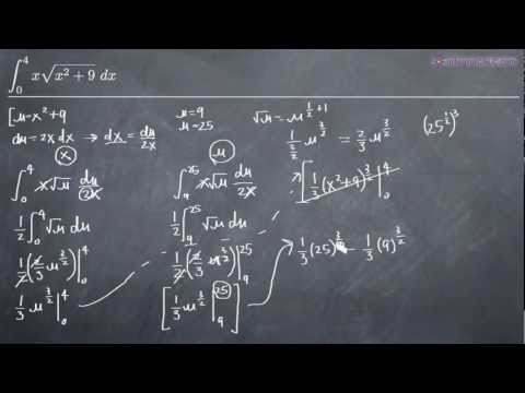 U-Substitution in Definite Integrals (KristaKingMath)