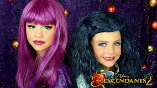 Descendants 2 Mal and Evie Costumes and Makeup