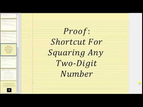 Proof: Shortcut Method of Squaring a Two Digit Number