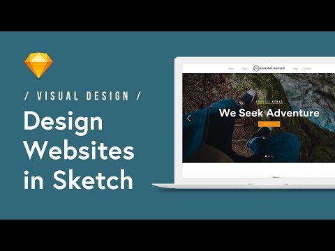Design a Website Landing Page in Sketch (Tutorial) 🖥