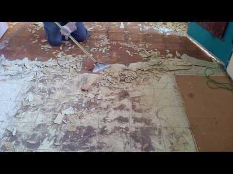 Easiest Way to Remove Old Linoleum Floor Tile in a Kitchen