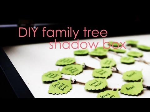 Easy DIY Family Tree Shadow Box