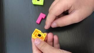 Christmas Cracker 3D Keyring Cube Puzzle Solution (aka