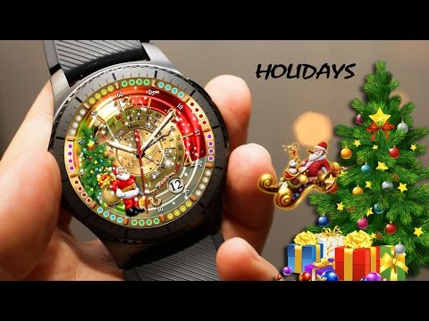 'Merry Special Christmas' watch face for samsung Gear s2 and Gear s3