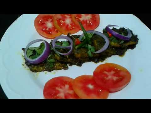 Green Chilly  Masala Fish Fry Recipe II Steamed II Fried Fish with Masala
