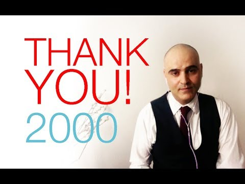 Thank you 2000 YouTube Subscribers