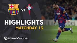 Highlights FC Barcelona vs RC Celta (4-1)