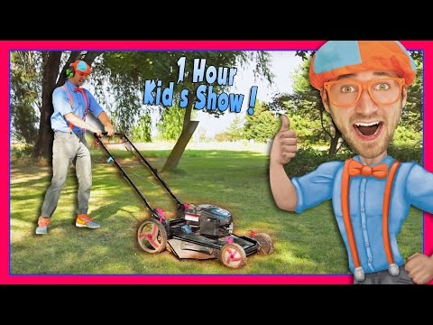 Blippi Videos for Children | Lawn Mower and More!