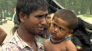 Rohingya refugees arrive on Bangladesh beaches