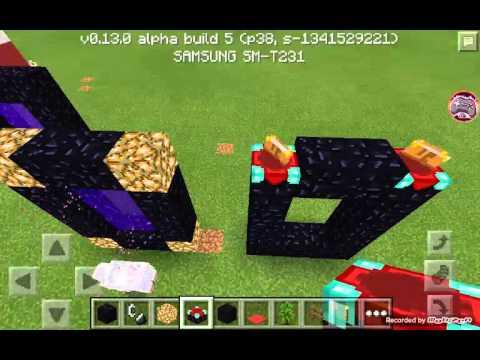 How to make a nether Portal-Minecraft P.E 100%work