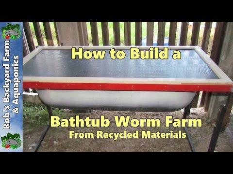 How to build a bathtub worm farm from recycled materials...