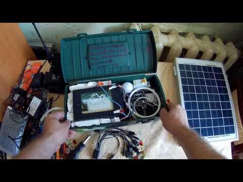 💡Портативная солнечная электростанция (Своими руками)/туризм/рыбалка/походы/освещение/
