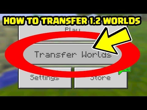 How To TRANSFER WORLDS in Minecraft Pocket Edition 1.2 Update between Devices! // Minecraft PE 1.2