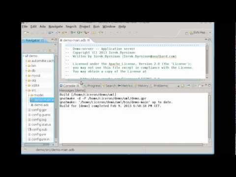 Creating an Ada database application using Dynamo and Eclipse