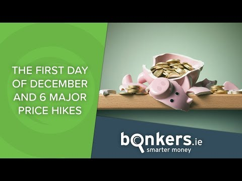 The first day of December and 6 price hikes