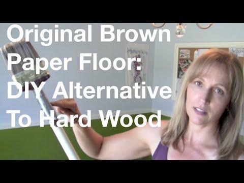 The Original Brown Paper Floor: DIY Alternative To Hard Wood Floors