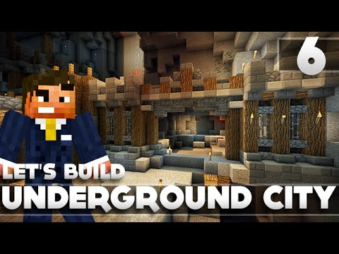 Minecraft - Advanced Underground Base/City Tutorial Let's Build Part 6 Xbox 360/PC/PS3