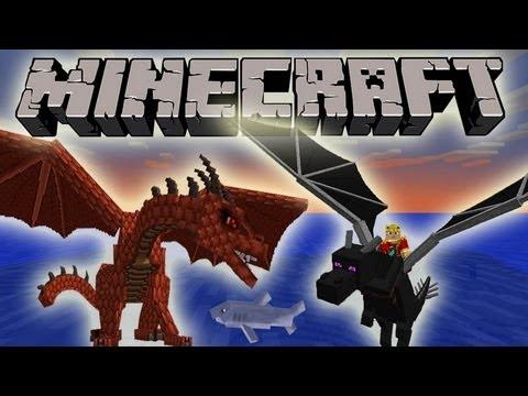 Minecraft 1.7 SnapShot: Dragon Pets, Red Dragon, Taming Dragons!
