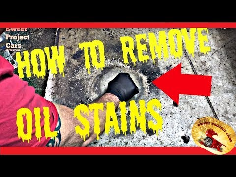 HOW TO REMOVE OIL STAINS ON Driveways or Garage Floors