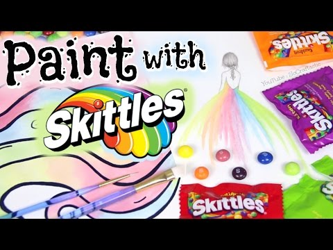 PAINTING WITH SKITTLES | SoCraftastic