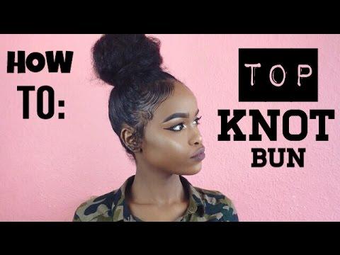 NATURAL HAIR | TOP KNOT BUN FOR SHORT HAIR