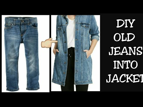 DIY Old Jeans Into Jacket/ Shrug Recycle/Reuse Old Jeans