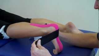 How to apply Kinesiology Taping for Plantar Fasciitis / heel spur / foot pain