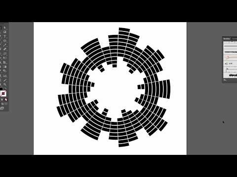 Equalizer circle logo - Adobe Illustrator cs6 tutorial. How to create vector sound waves circle
