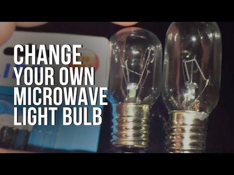 How to Change Replace Whirlpool Microwave Hood Light Bulb Model WMH73521