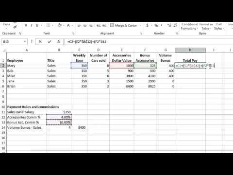 Excel 2013 Tutorial 8: Formulas Part 3