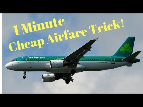 How I Find Super Cheap Airfare In Less Than One Minute