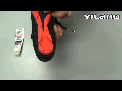 Install MTB cleats on a cycling shoe