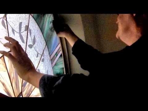 Installing A Stained Glass Panel in an Arched Window
