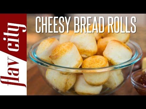 Gluten Free Cheese Bread - Pao de Queijo - Flavcity with Bobby