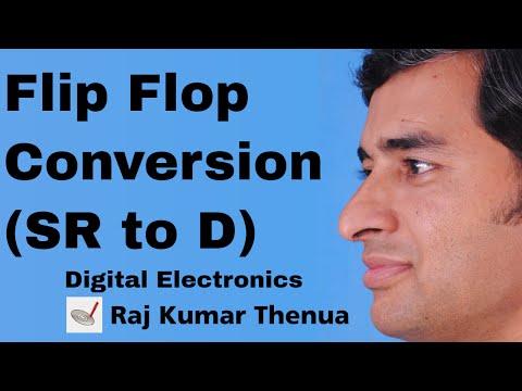 Flip flop Conversion | SR Flip Flop to D flip flop | Hindi / Urdu