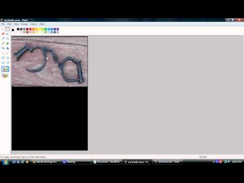make your own kindle ebook cover in paint on windows vista
