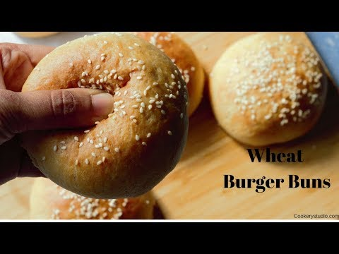 Eggless Whole Wheat Burger Buns Recipes | How to make wheat burger buns | Soft and perfect atta buns