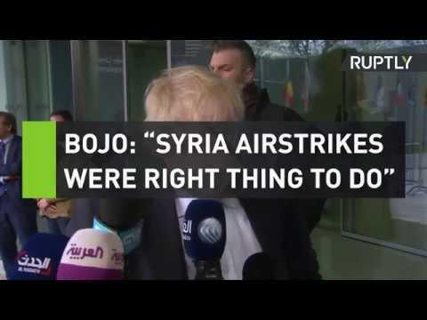 BoJo: Syrian airstrikes were
