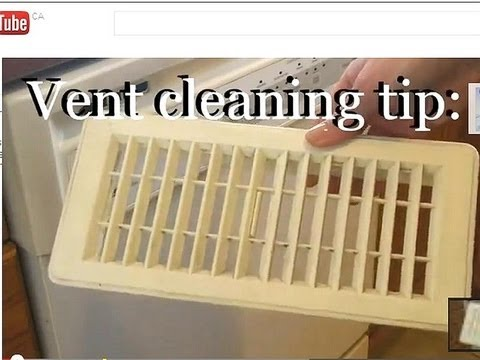 Cleaning Tip:  How to clean air vents easily