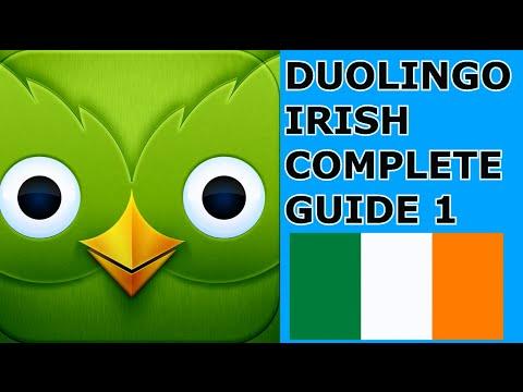 DUOLINGO IRISH COURSE PRONUNCIATION AND TUTORIAL 1